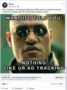 Hyroxs Facebook ad